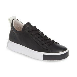 BLACKSTONE RL65 Mid Top Two Tone Leather Sneakers
